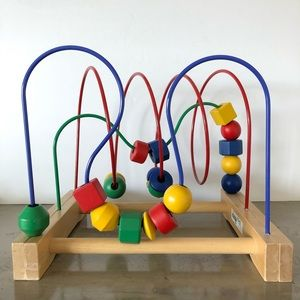 Mobile Wooden Bead Rollercoaster